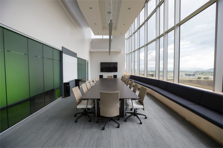 Commercial office room with electrical needs