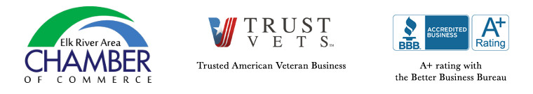 Affiliated with the Better Business Bureau A+ Rated and Trusted American Vets Business, and Elk River Area Chamber of Commerce